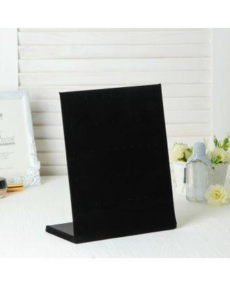 Подставка под серьги 5 рядов, цвет чёрный, 30 пар 20*10*26 см арт. СМЛ-19957-1-СМЛ1039200
