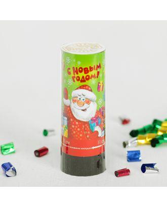 Хлопушка пружинная «С Новым годом», 11 см, конфетти + фольга серпантин арт. СМЛ-104283-1-СМЛ0001064924