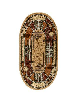 Ковёр Золушка, размер 80х150 см, овальный 01/042 арт. СМЛ-19659-2-СМЛ1079514