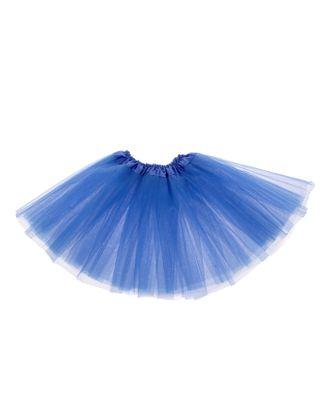 Карнавальная юбка 3-х слойная 4-6 лет, цвет синий арт. СМЛ-125164-1-СМЛ0001089311