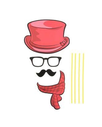 Карнавальный набор для фотосессии «Пижон», 4 предмета: шляпа, очки, усы, шарф арт. СМЛ-104050-1-СМЛ0001090271