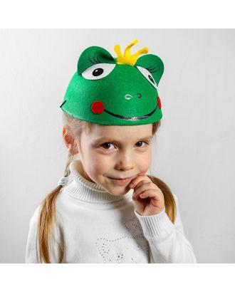 "Карнавальная шляпа детская ""Царевна-лягушка"", р-р. 52-54 арт. СМЛ-125779-1-СМЛ0001100545"