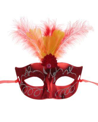 Карнавальная маска «Причуда», с перьями, цвета МИКС арт. СМЛ-104041-1-СМЛ0001102606