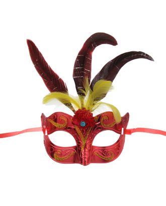 Карнавальная маска «Новинка», с перьями, цвета МИКС арт. СМЛ-104042-1-СМЛ0001102608