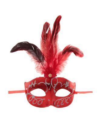 Карнавальная маска «Сияние», с перьями, цвета МИКС арт. СМЛ-104037-1-СМЛ0001102609