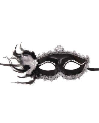 Карнавальная маска «Мгла», с перьями арт. СМЛ-104043-1-СМЛ0001102617