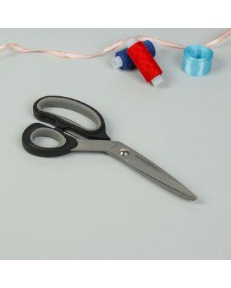 Ножницы портновские, с прорезиненной ручкой, 20 см, цвет чёрный/серый арт. СМЛ-27541-1-СМЛ1108673