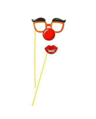 Аксессуар для фотосессии «Гигант», на палочке, 2 предмета: губки, очки с бровями арт. СМЛ-104409-1-СМЛ0001126248