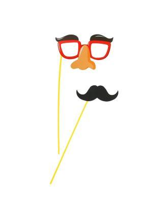 Аксессуар для фотосессии «Гигант», на палочке, 2 предмета: усы. очки с бровями и носом арт. СМЛ-104418-1-СМЛ0001126256