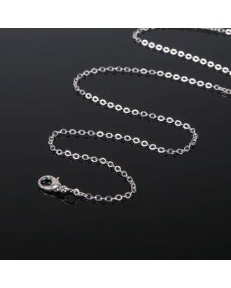 Цепочка с карабином, декоративная, мелкое плетение, 45см арт. СМЛ-20715-2-СМЛ1148797