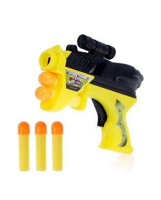 Пистолет «Космобластер», стреляет мягкими пулями (3 шт.), цвета МИКС арт. СМЛ-120210-1-СМЛ0001172986
