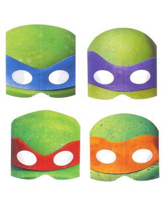 Маска «Черепашки-ниндзя», бумажная, набор 8 шт., на резинке арт. СМЛ-104494-1-СМЛ0001187008