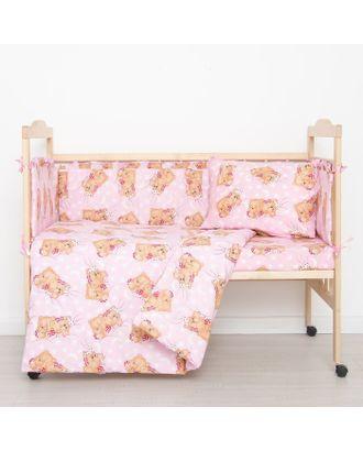 """Комплект """"Спящие мишки"""" (6 предметов), цвет розовый 65/1 арт. СМЛ-31147-1-СМЛ1208645"""
