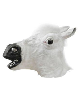 Карнавальная маска «Лошадь», цвет белый арт. СМЛ-100588-1-СМЛ0001208661