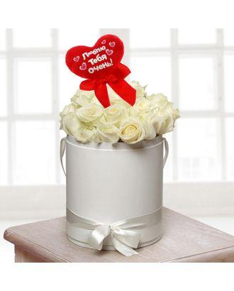 Мягкая игрушка на палочке «Люблю тебя очень», сердце арт. СМЛ-125198-1-СМЛ0001210599