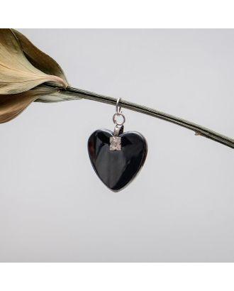 """Подвеска """"Гематит"""" сердце малое арт. СМЛ-109622-1-СМЛ0001220907"""