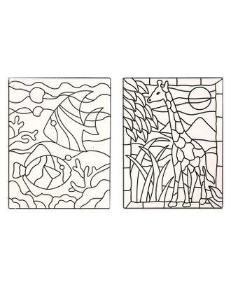 """Витраж-макси """"Аквариум и жираф"""" арт. СМЛ-35984-1-СМЛ0001241167"""