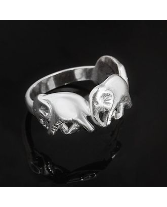 """Кольцо """"Три слона"""", размер 18, цвет чернёное серебро арт. СМЛ-19701-1-СМЛ1244237"""