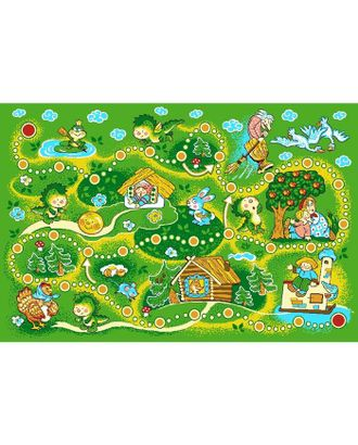 Ковёр принт «Сказка», размер 100х150 см, цвет зелёный, полиамид арт. СМЛ-830-1-СМЛ1250496