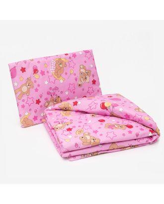 Комплект в кроватку для девочки (одеяло 110*140 см, подушка 40*60 см), цвет МИКС арт. СМЛ-890-1-СМЛ1265508