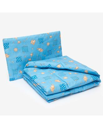 Комплект в кроватку для мальчика (одеяло 110*140 см, подушка 40*60 см), цвет МИКС арт. СМЛ-30857-1-СМЛ1265509