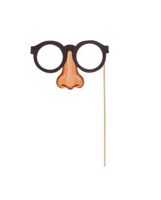 Фотобутафория на палочке «Очки на носу» арт. СМЛ-42489-1-СМЛ0001275160
