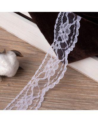 Кружево капроновое, 35 мм × 10 ± 1 м, цвет белый арт. СМЛ-118354-1-СМЛ0001275729