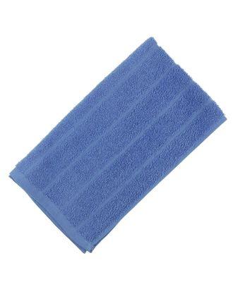 Полотенце махровое, цвет синий, размер 47х90 см, хлопок 280 г/м2 арт. СМЛ-19707-2-СМЛ1295853