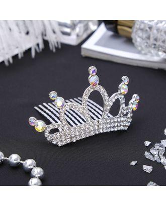 """Диадема для волос """"Королевская особа"""" 4*8 см кристаллы арт. СМЛ-987-1-СМЛ1338150"""