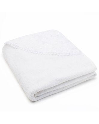 Полотенце-уголок для крещения, размер 100*100 см, цвет белый К40 арт. СМЛ-994-1-СМЛ1339468