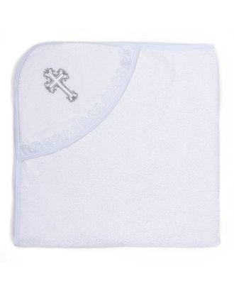 Полотенце-уголок для крещения с вышивкой, размер 100*100 см, цвет белый К40/1 арт. СМЛ-995-1-СМЛ1339469