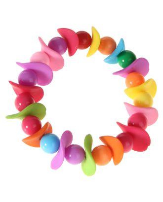 """Браслет детский """"Выбражулька"""", волна с бусинками, цветной арт. СМЛ-1001-1-СМЛ0133970"""