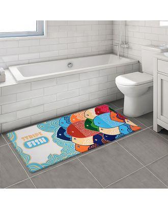 Коврик «Стая рыб», 45×120 см арт. СМЛ-30139-1-СМЛ1352697