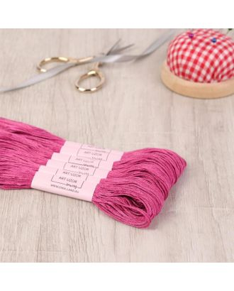 Нитки мулине, 8 ± 1 м, цвет розово-малиновый №3607 арт. СМЛ-120283-1-СМЛ0001361403