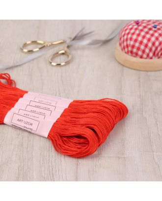 Нитки мулине, 8 ± 1 м, цвет тёмно-морковный №900 арт. СМЛ-120288-1-СМЛ0001361470