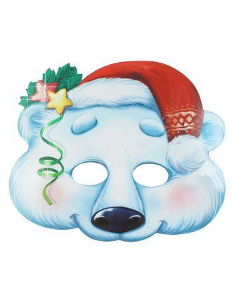 """Маска карнавальная """"Белый медведь"""" арт. СМЛ-106298-1-СМЛ0001363040"""