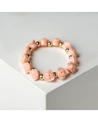 """Браслет пластик """"Цветы"""" розы арт. СМЛ-20656-3-СМЛ1364961"""