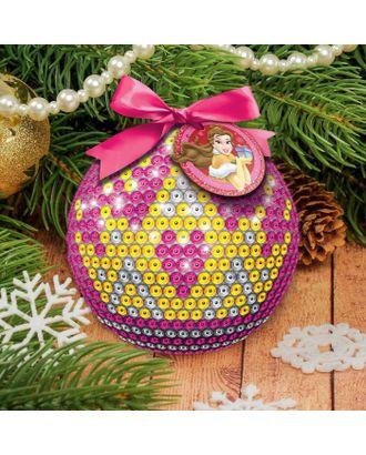 Новогодний ёлочный шар Принцессы: Белла с пайетками арт. СМЛ-120252-1-СМЛ0001371704