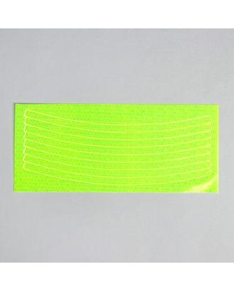 Светоотражающая наклейка «Полоски», 8 шт на листе р.1х21 см арт. СМЛ-1185-1-СМЛ1410628