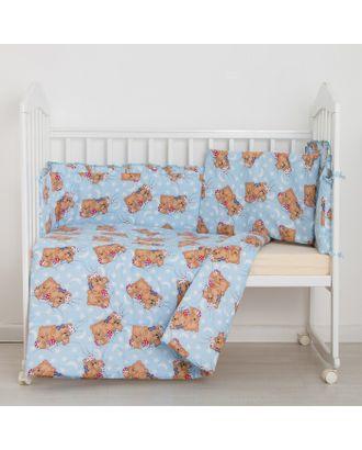 """Комплект """"Спящие мишки"""" (3 предмета), цвет голубой 31 арт. СМЛ-40184-1-СМЛ0001423980"""