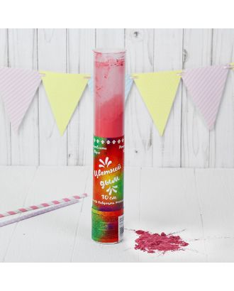 Хлопушка - цветной дым «Яркий взрыв эмоций», 30 см, цвет красный арт. СМЛ-43294-1-СМЛ0001427030