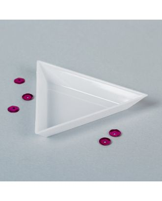 Контейнер для бисера, 7,3х6,5х1,2 см, цв.белый арт. СМЛ-1237-1-СМЛ1427083