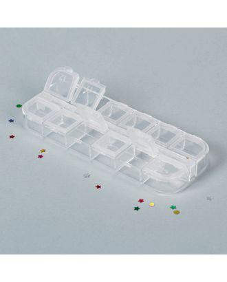 Контейнер для бисера, 12 отделений с номерами, 13х5х1,5 см арт. СМЛ-1239-1-СМЛ1427085