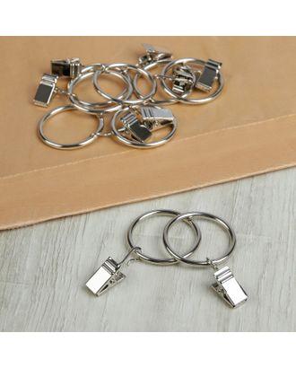 Кольцо для крепления штор, с зажимом д.3,7см, 20шт арт. СМЛ-59-1-СМЛ1470185