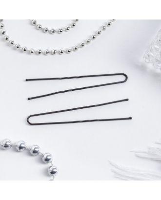 Шпильки для волос чёрные, 7,5 см (набор 10 шт.) арт. СМЛ-20255-1-СМЛ1475063