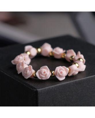 """Браслет пластик """"Цветы"""" розы арт. СМЛ-20656-4-СМЛ0001501613"""