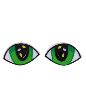 Глаза винтовые с заглушками, размер 1 шт. 2,5х1,5 см арт. СМЛ-1350-1-СМЛ1502814