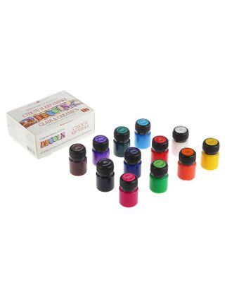 Набор красок по стеклу и керамике Decola, 12 цветов, 20 мл арт. СМЛ-1383-1-СМЛ1512831