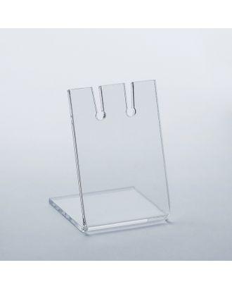 Подставка под серьги, 3,5*3*6 см, оргстекло 2 мм в защитной плёнке арт. СМЛ-110976-1-СМЛ0001564762