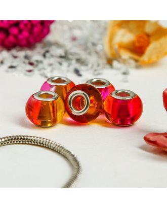 """Бусинка """"Леденец"""", цв.оранжево-розовый арт. СМЛ-22150-1-СМЛ1613070"""